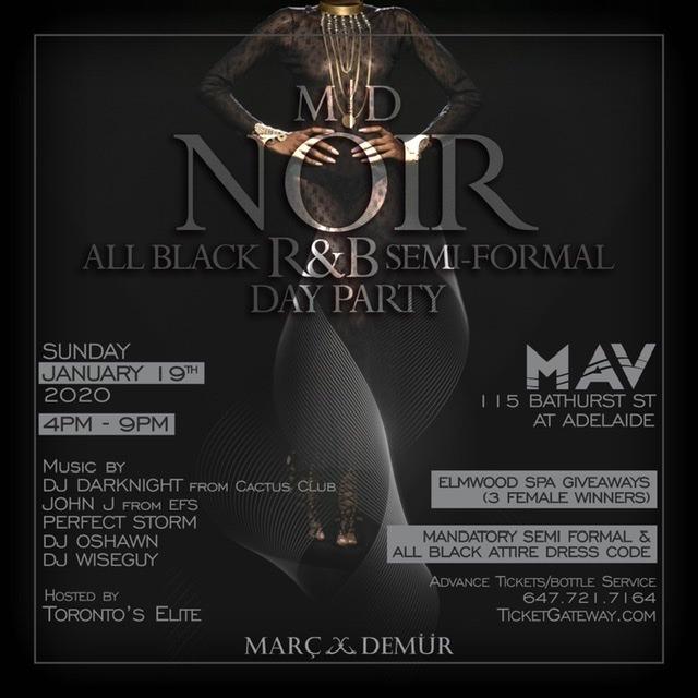 M|D NOIR - All Black R&B Semi Formal Day Party