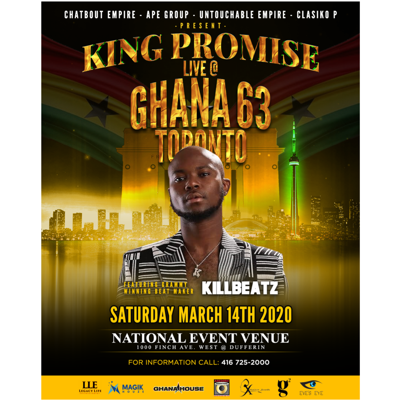 GHANA @ 63 TORONTO AS PROMISED CONCERT