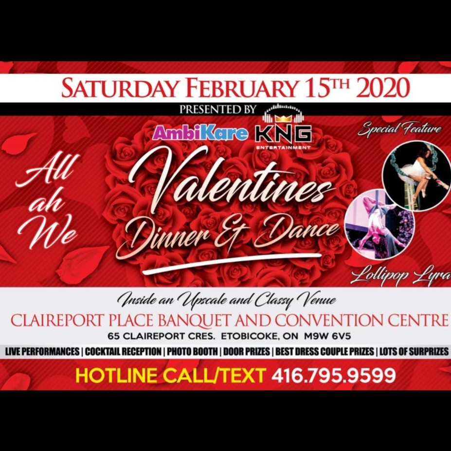 All Ah We Valentines Dinner And Dance 2020