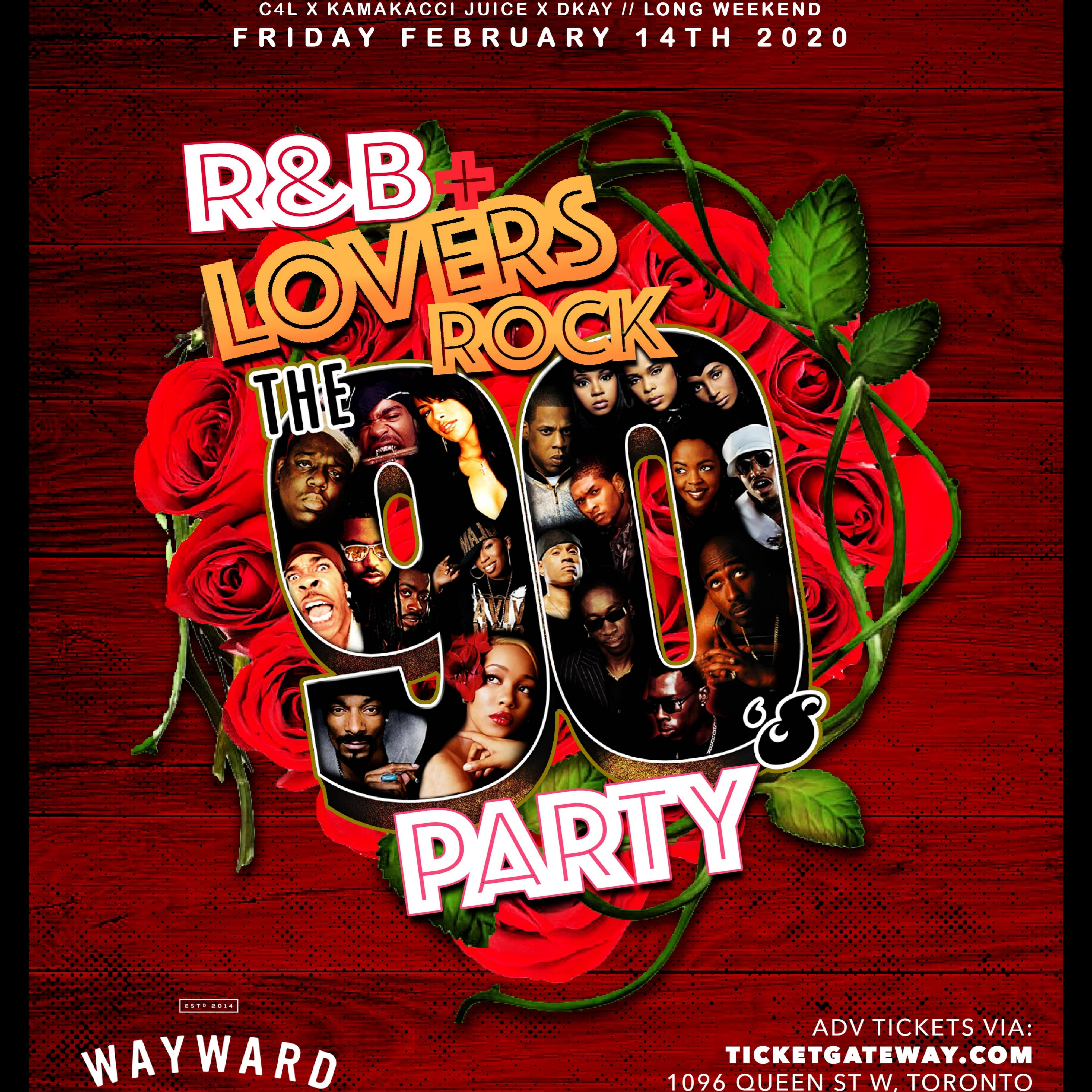 The90sParty 'R&B & Lovers Rock' edition