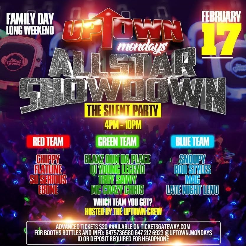 Uptown Mondays - All Star Showdown The Silent Party
