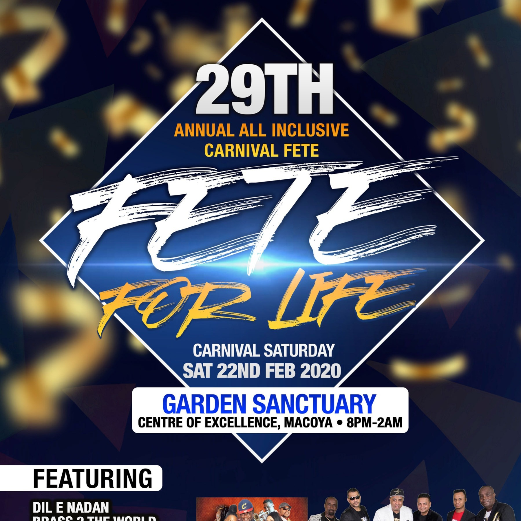 Fete For Life - Carnival Saturday