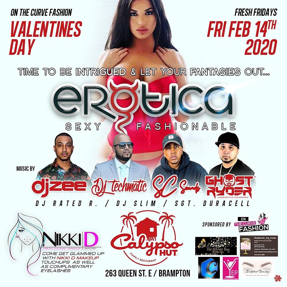 EROTICA FEAT:DJ ZEE, SC SOUNDS, TECHMATIC AND MORE AT CALYPSO HUT (BRAMPTON)