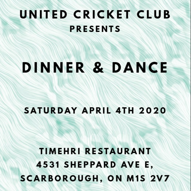 United Cricket Club Dinner and Dance