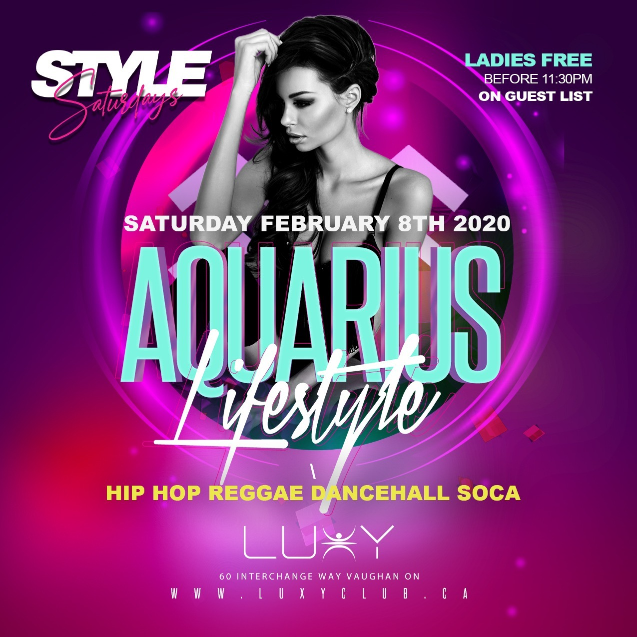 Style Saturdays @ Luxy - Aquarius Lifestyle