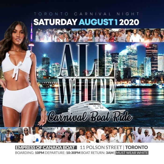 All White Carnival Boat Ride 2020
