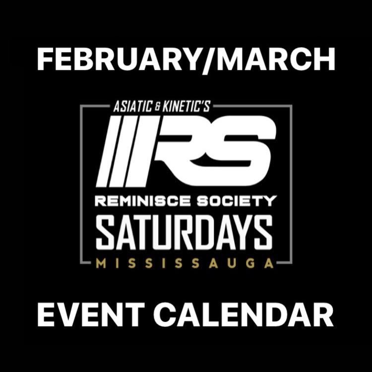 REMINISCE SOCIETY SATURDAYS FEB/MAR EVENT CALENDAR