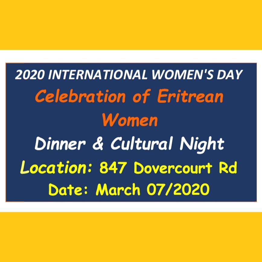 International Women's Day - Celebration of Eritrean Women