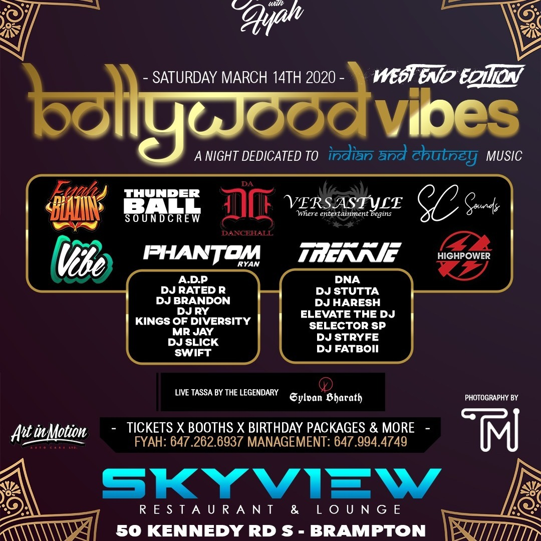 Bollywood Vibes 2020 -  Events with Fyah