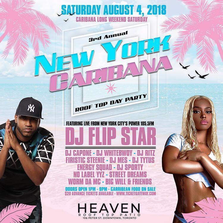 NEW YORK CARIBANA PATIO DAY PARTY @ HEAVEN ROOFTOP PATIO