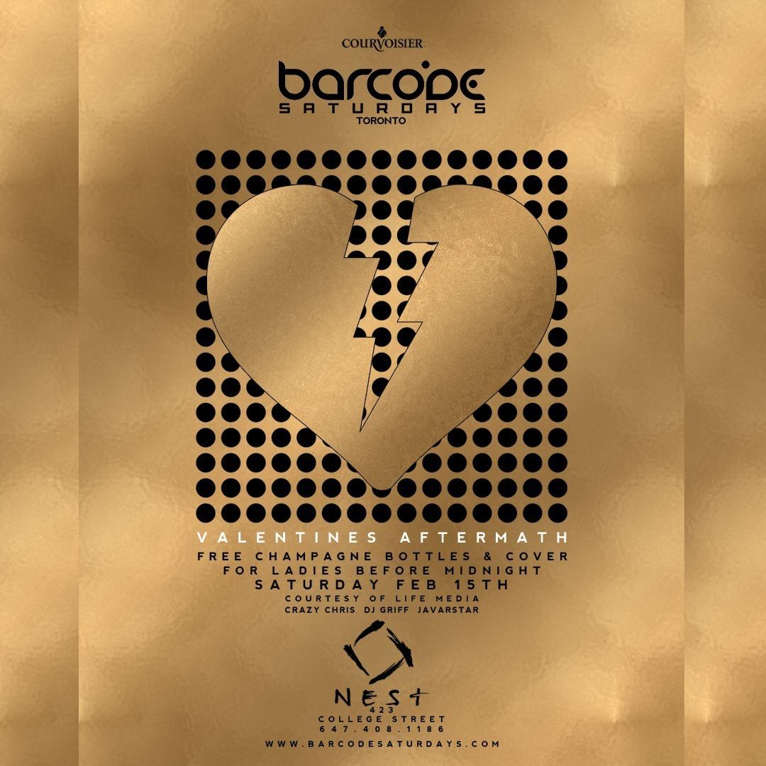 Barcode Saturdays Valentines Aftermath 15 Feb