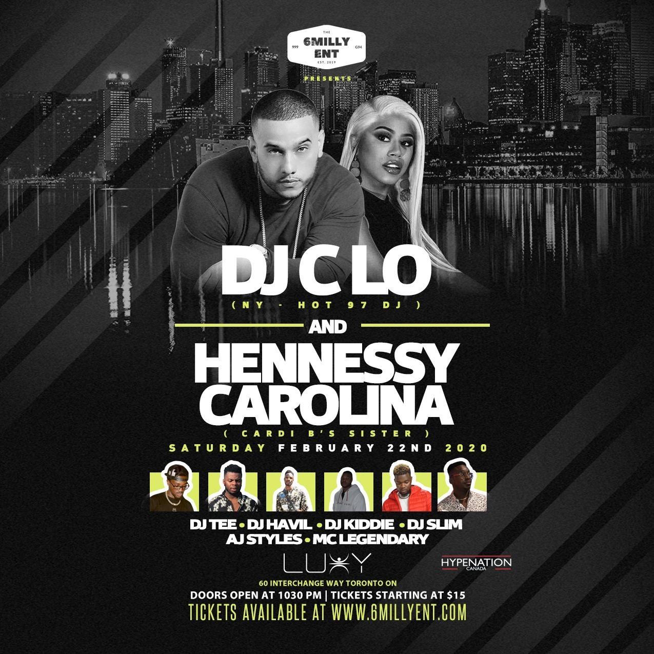Dj Clo And Hennessy Carolina  @ Luxy Nightclub