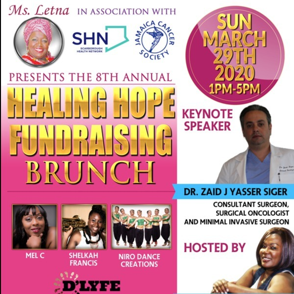 Ms. Letna 8th Annual Healing Hope Fundraising Brunch