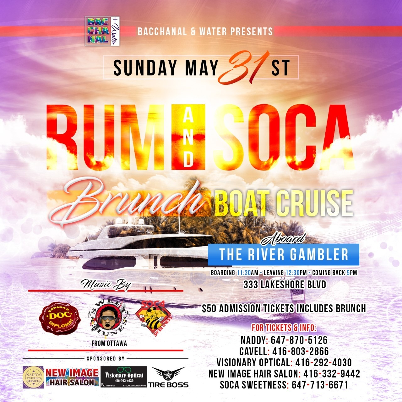RUM & SOCA BRUNCH BOAT CRUISE
