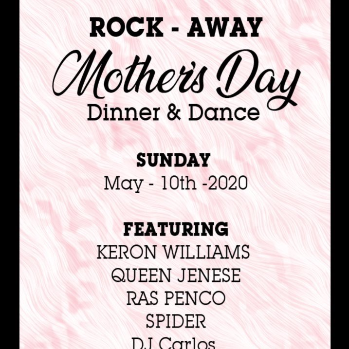 ROCK AWAY - MOTHERS DAY 2020 DINNER AND DANCE