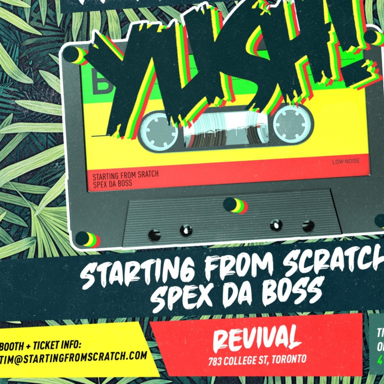 YUSH! - A JOURNEY THROUGH REGGAE MUSIC ~ FRIDAY JUNE 5th