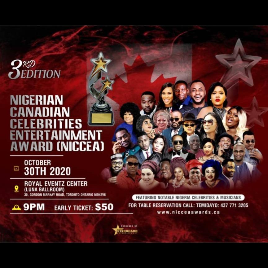 Nigerian Canadian Celebrities Entertainment Award 2020