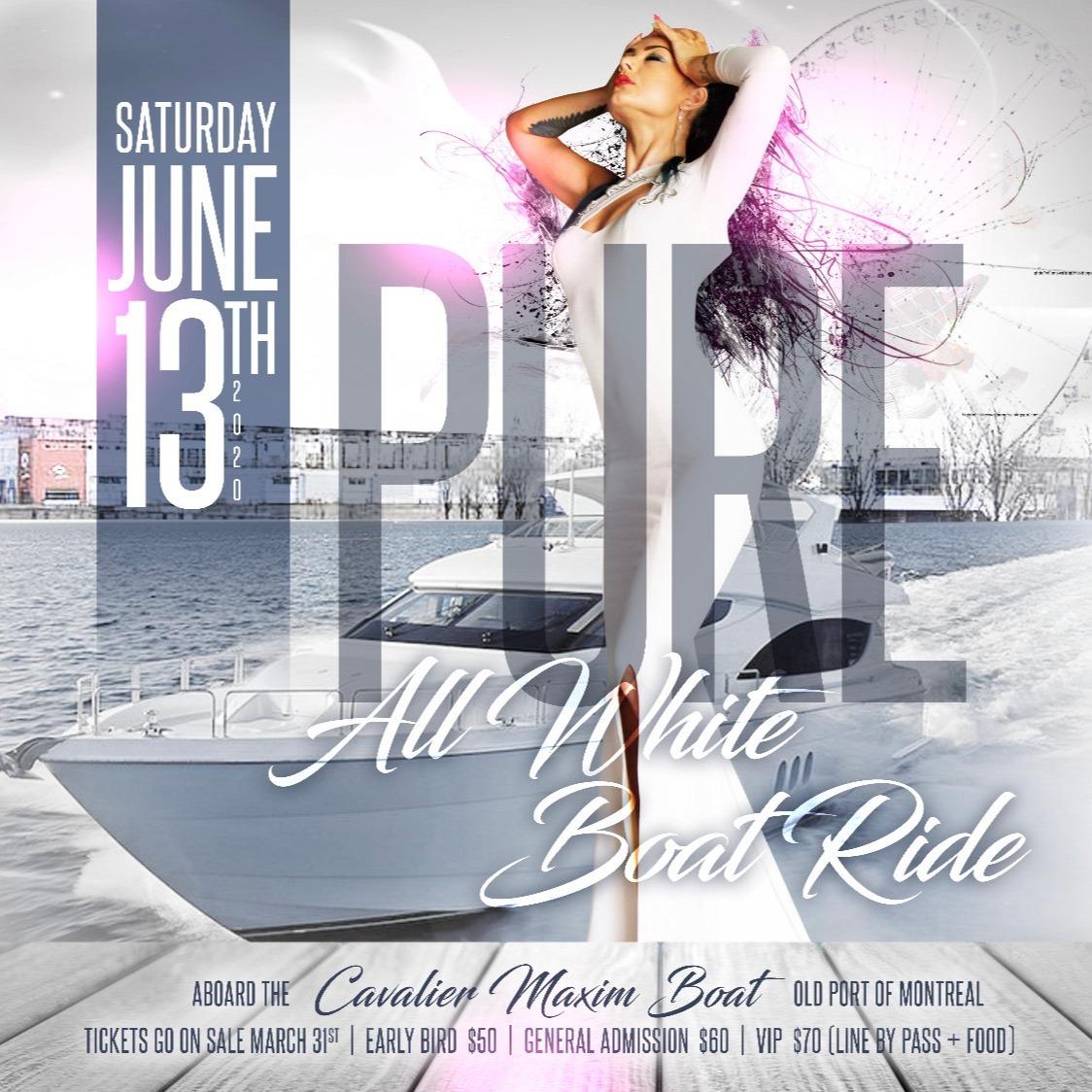 PURE: All White Boat Ride
