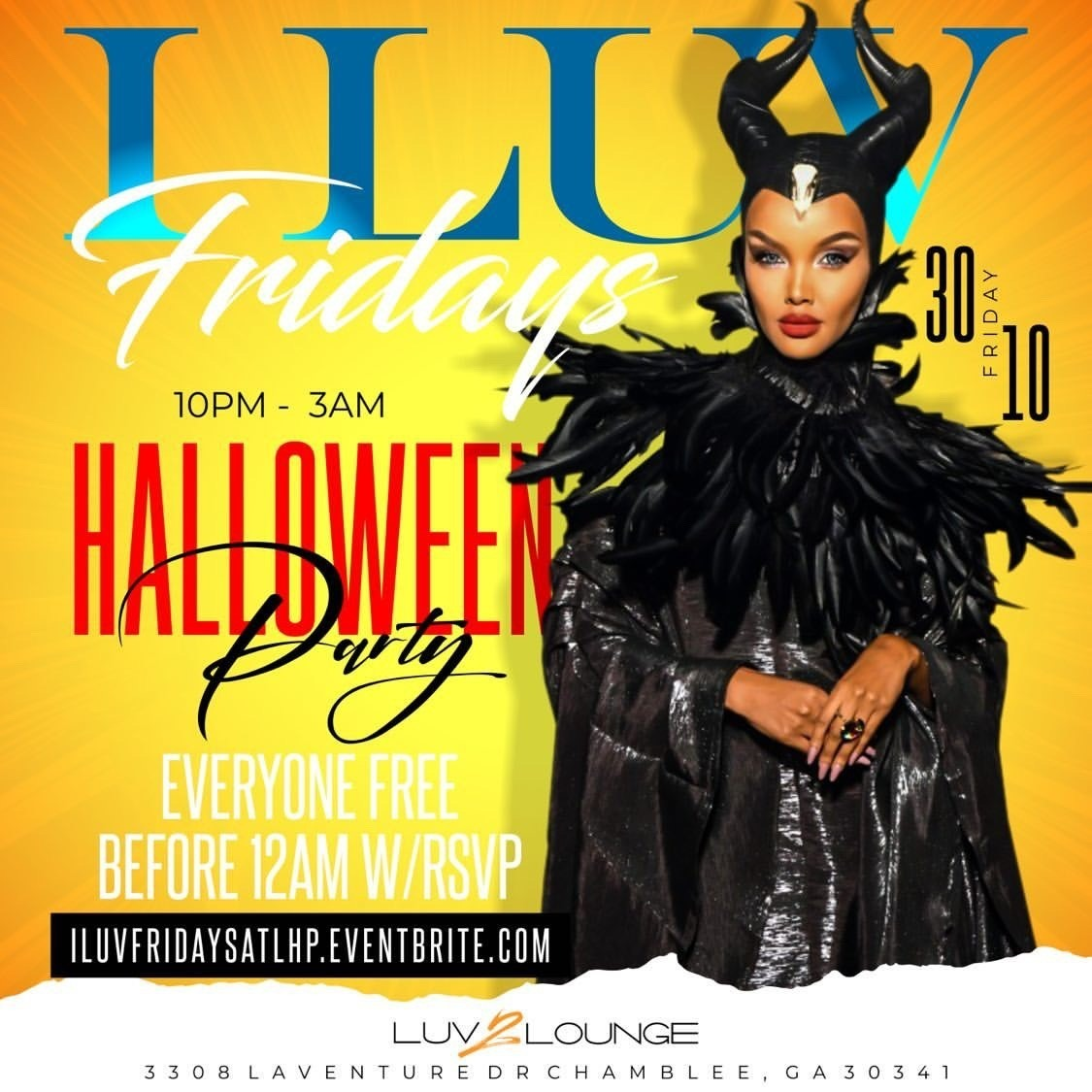 Halloween Costume Events 2020 Atlanta I LUV FRIDAYS Atlanta Halloween Party 2020 | No Cover before 12am