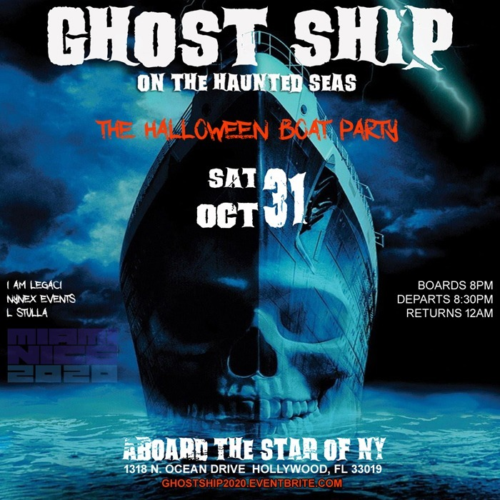 GHOST SHIP MIAMI   The Halloween Boat Party 2020