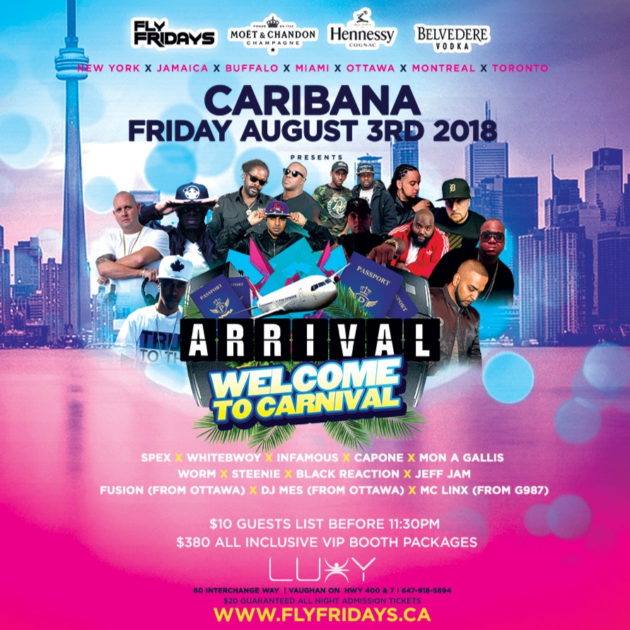 ARRIVAL | Caribana Friday