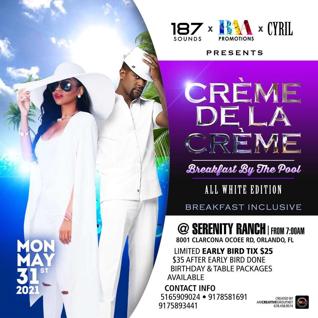Creme De La Creme - The All White Pool Edition