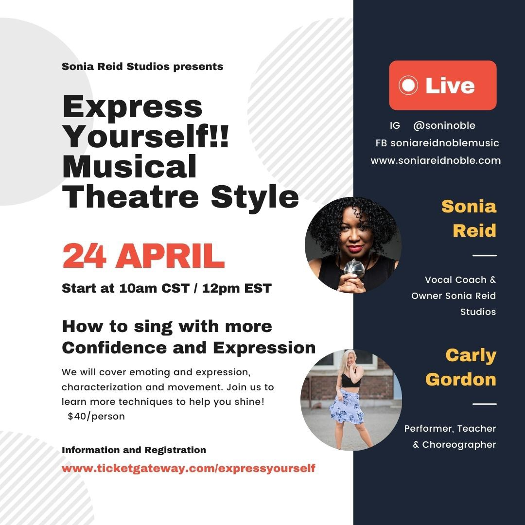 Express Yourself!! Singing Musical Theatre