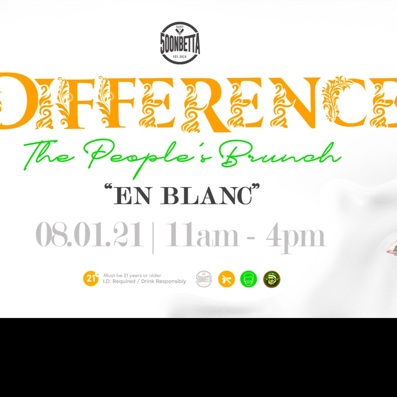 DIFFERENCE -THE PEOPLE'S BRUNCH -EN BLANC