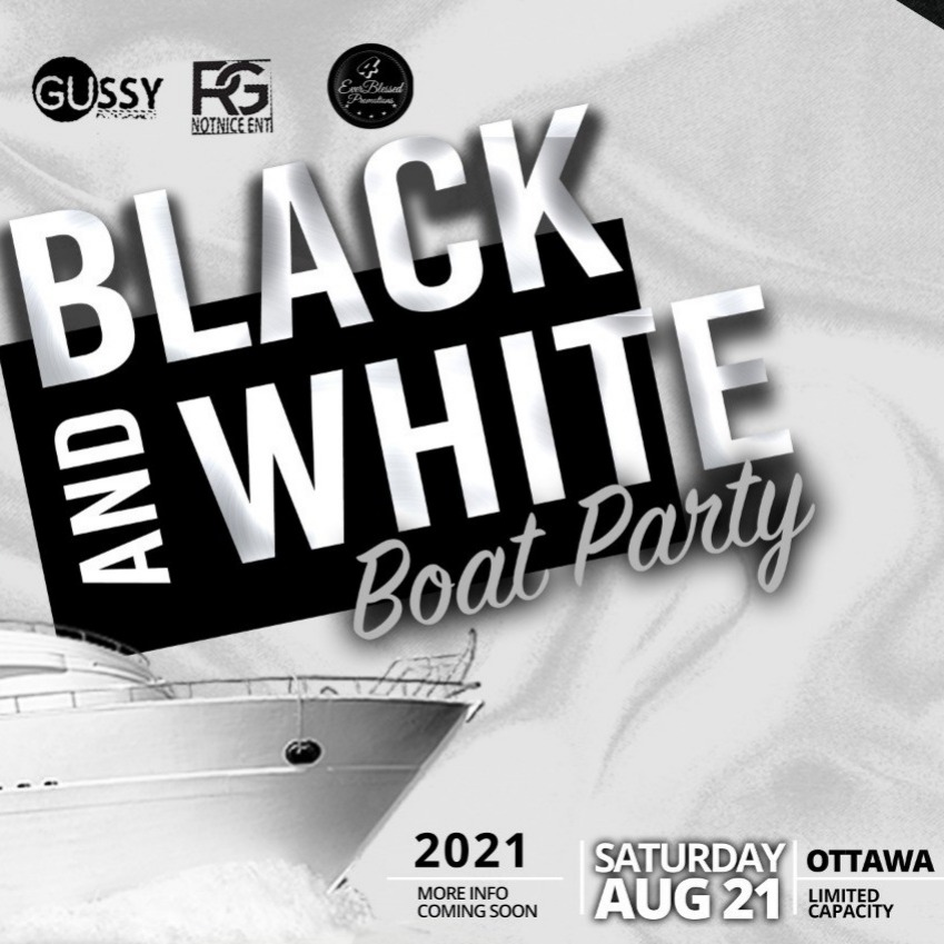 BLACK AND WHITE BOAT PARTY