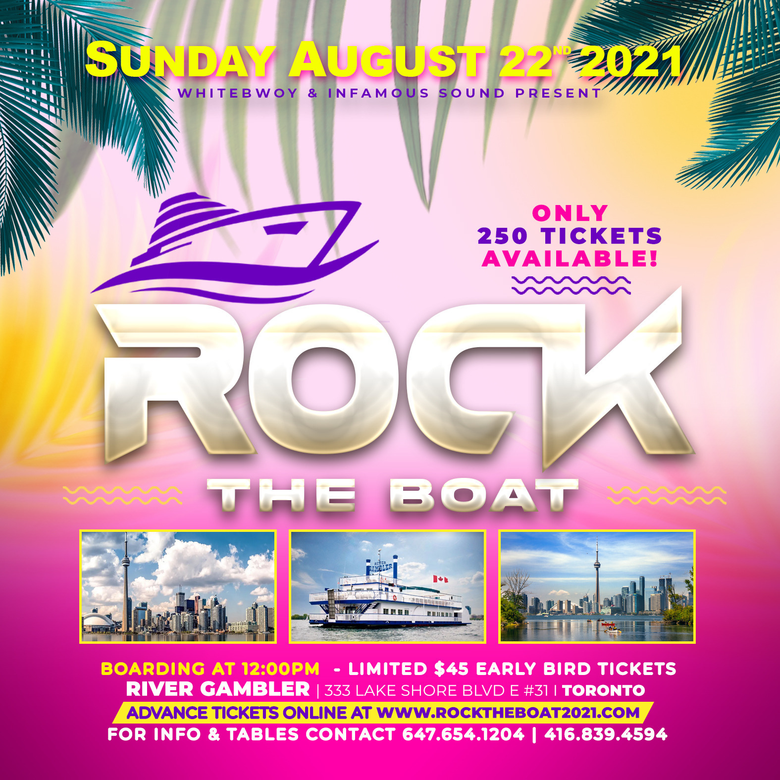 ROCK THE BOAT - BOAT CRUISE