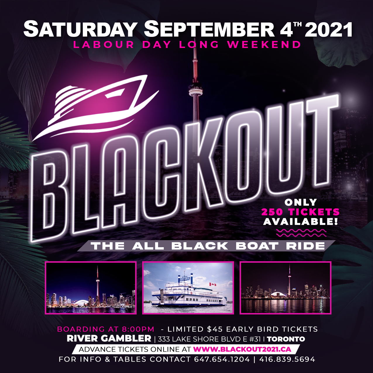 BLACKOUT - THE ALL BLACK BOAT RIDE