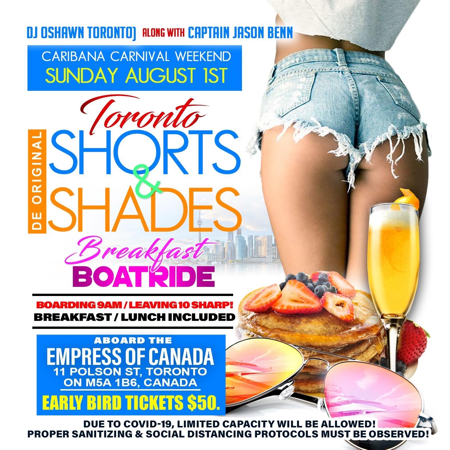 De Original Shorts and Shades Breakfast Boatride Toronto