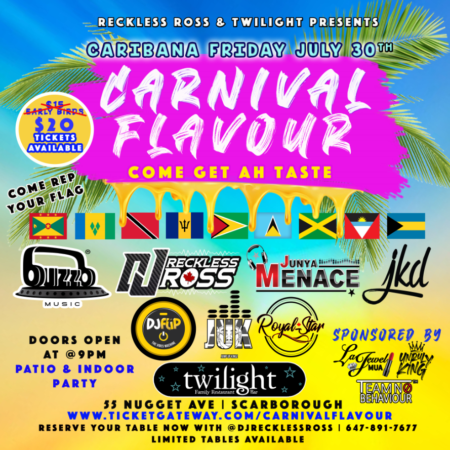 Carnival Flavour - Caribana Friday July 30th 2021
