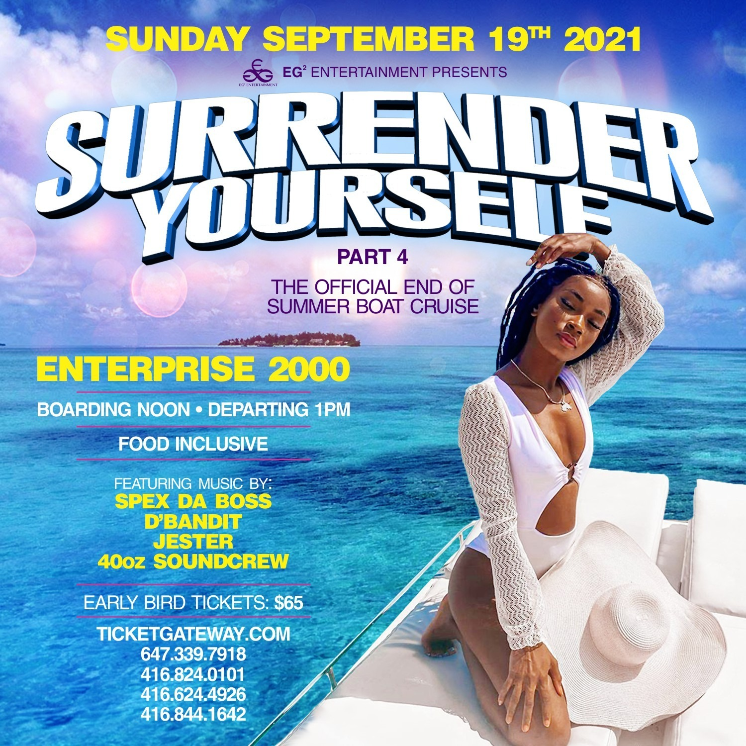 SURRENDER YOURSELF BOAT CRUISE 2021