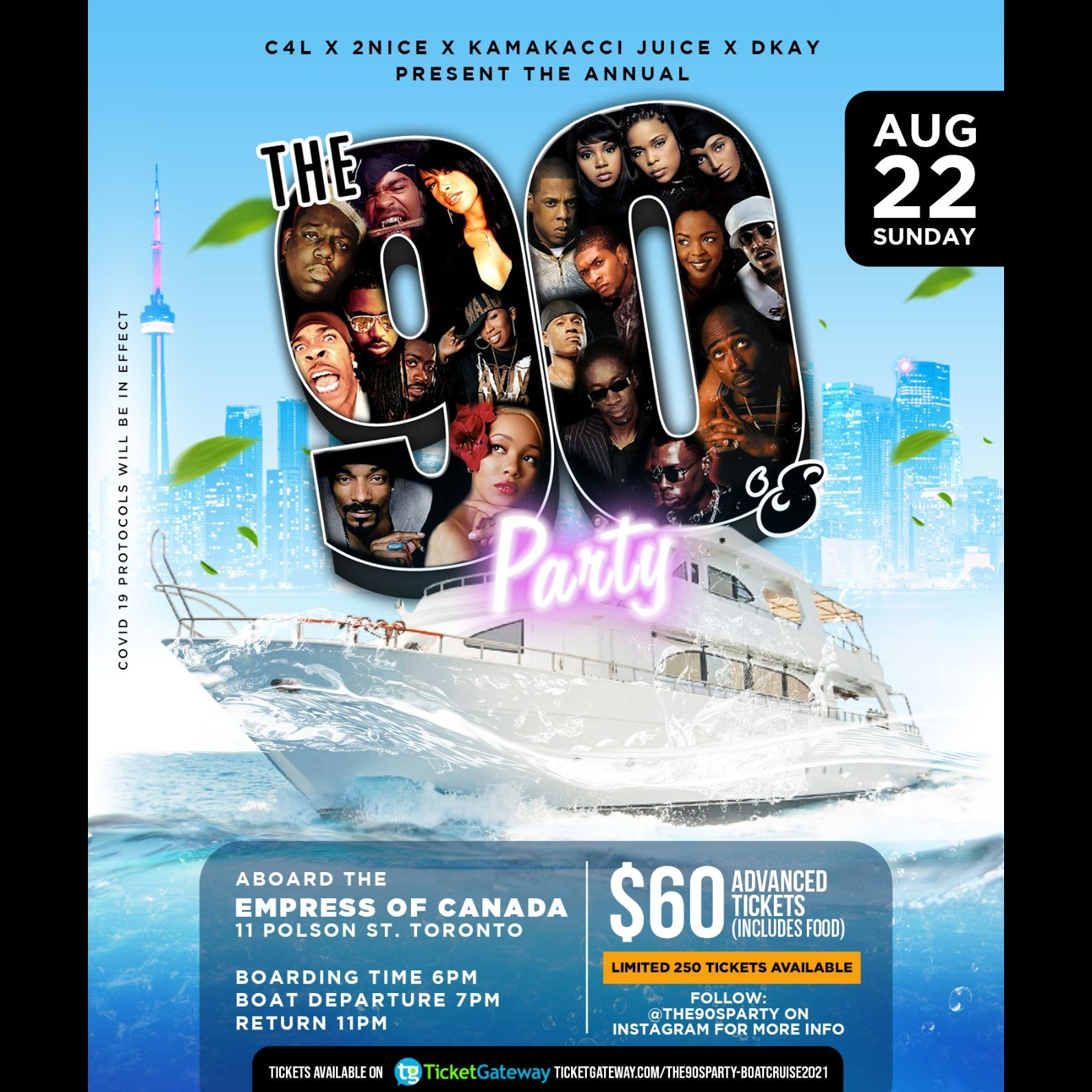 The90sParty Annual Boat Cruise