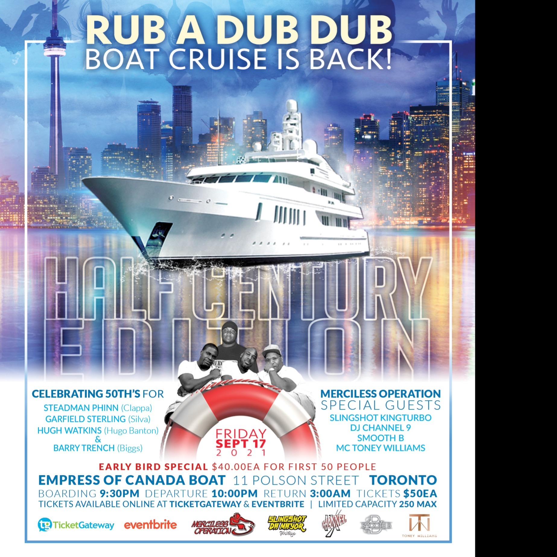 RUB A DUB DUB BOAT CRUISE - HALF CENTURY EDITION