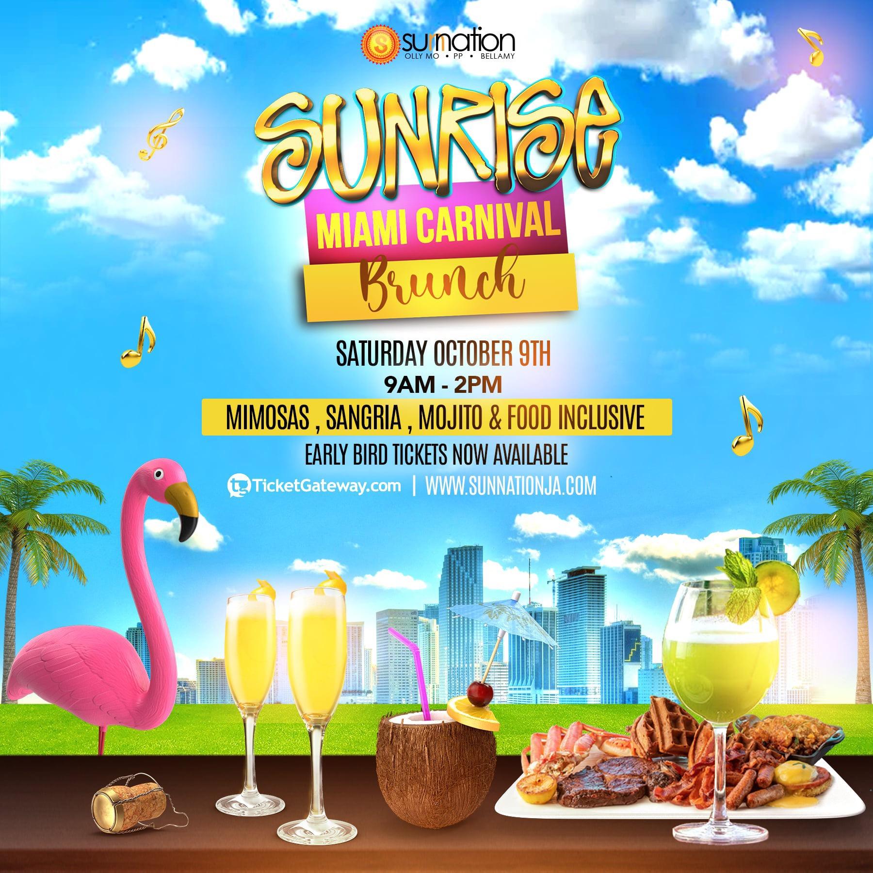 Sunrise Miami Carnival Brunch