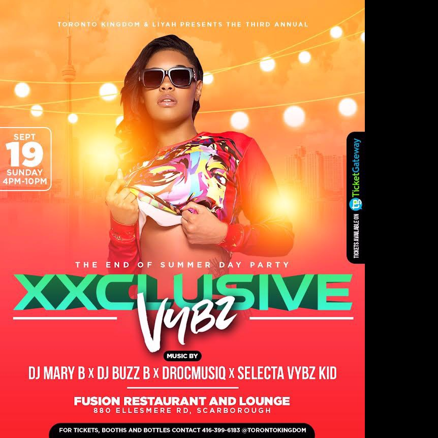 XXCLUSIVE VYBZ - THE END OF SUMMER DAY PARTY EDITION
