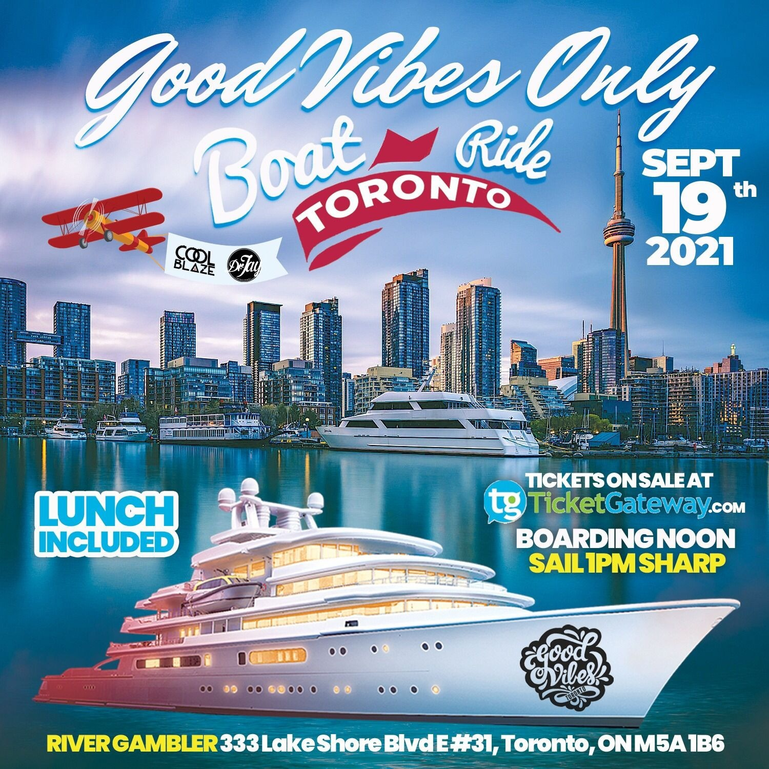 Good Vibes Only Boat Cruise