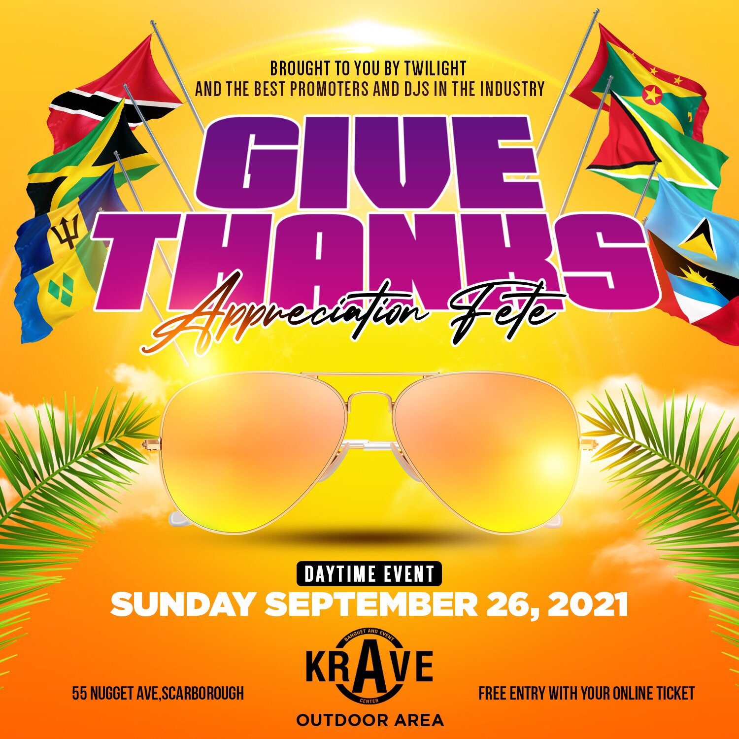 Give Thanks Appreciation fete - Presented by Twilight and the best Promoters and Djs in the industry