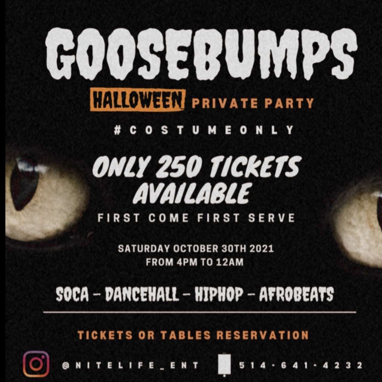 GOOSEBUMPS HALLOWEEN PRIVATE PARTY