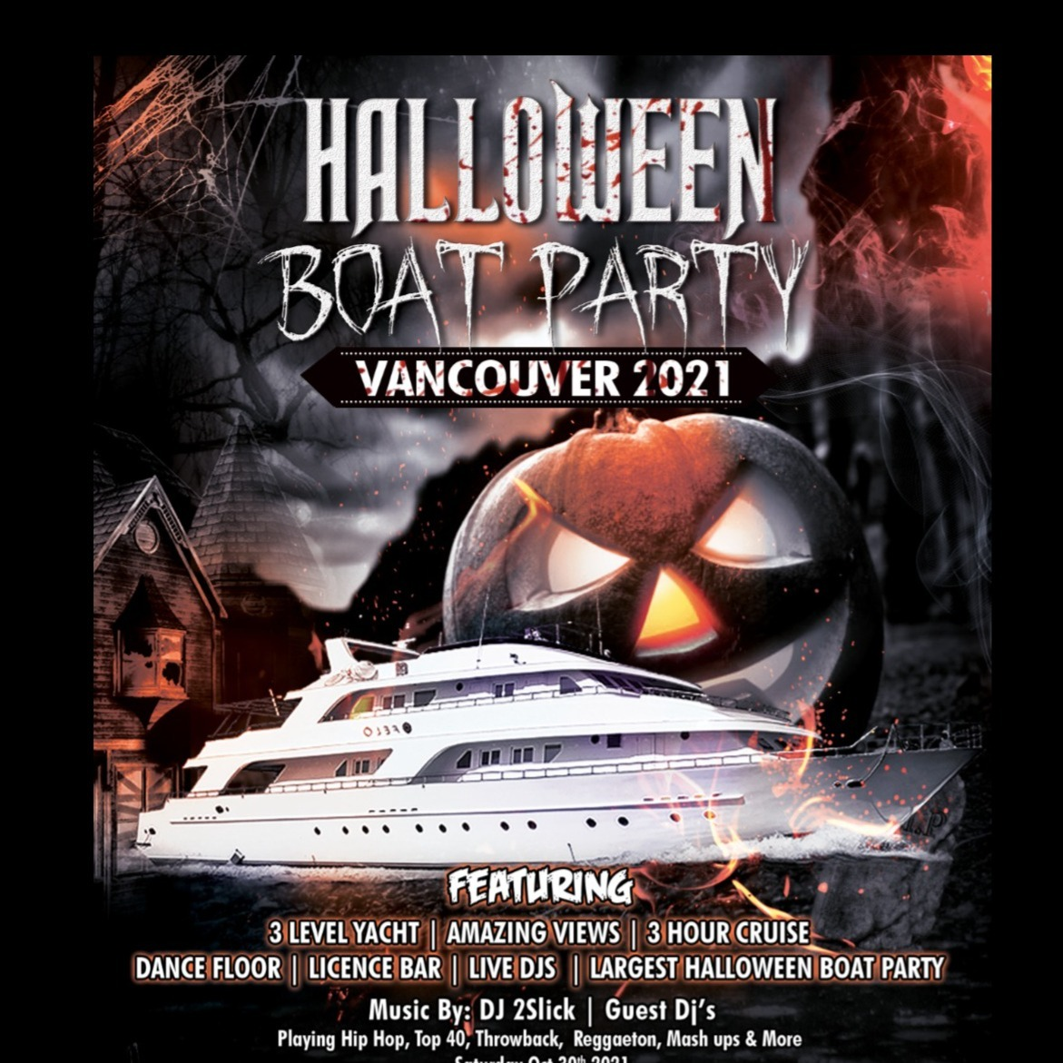 Halloween Boat Party Vancouver 2021