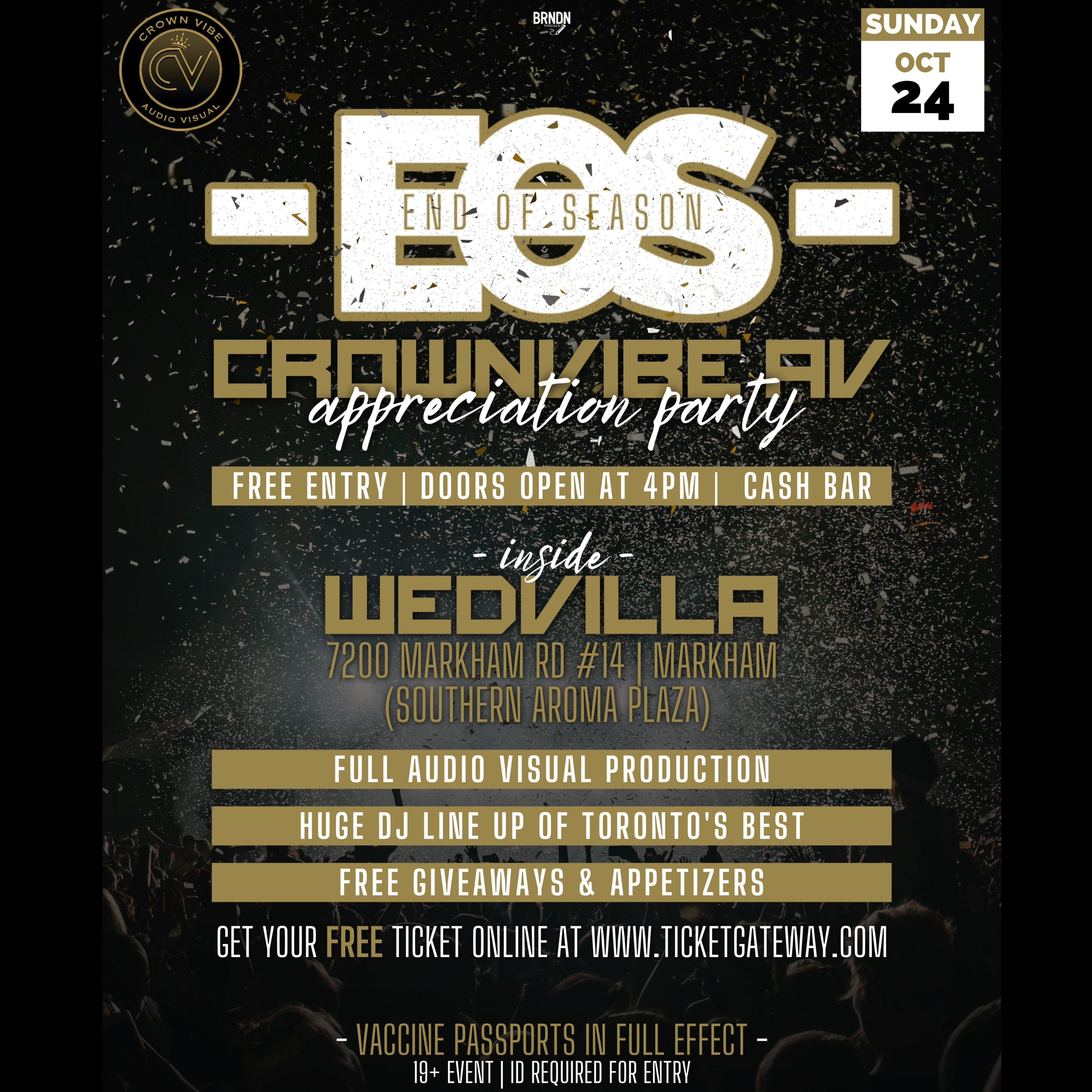 EOS - End Of Season Appreciation Party