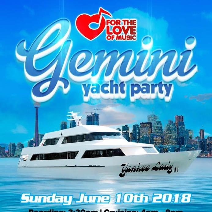 GEMINI YACHT PARTY 2018