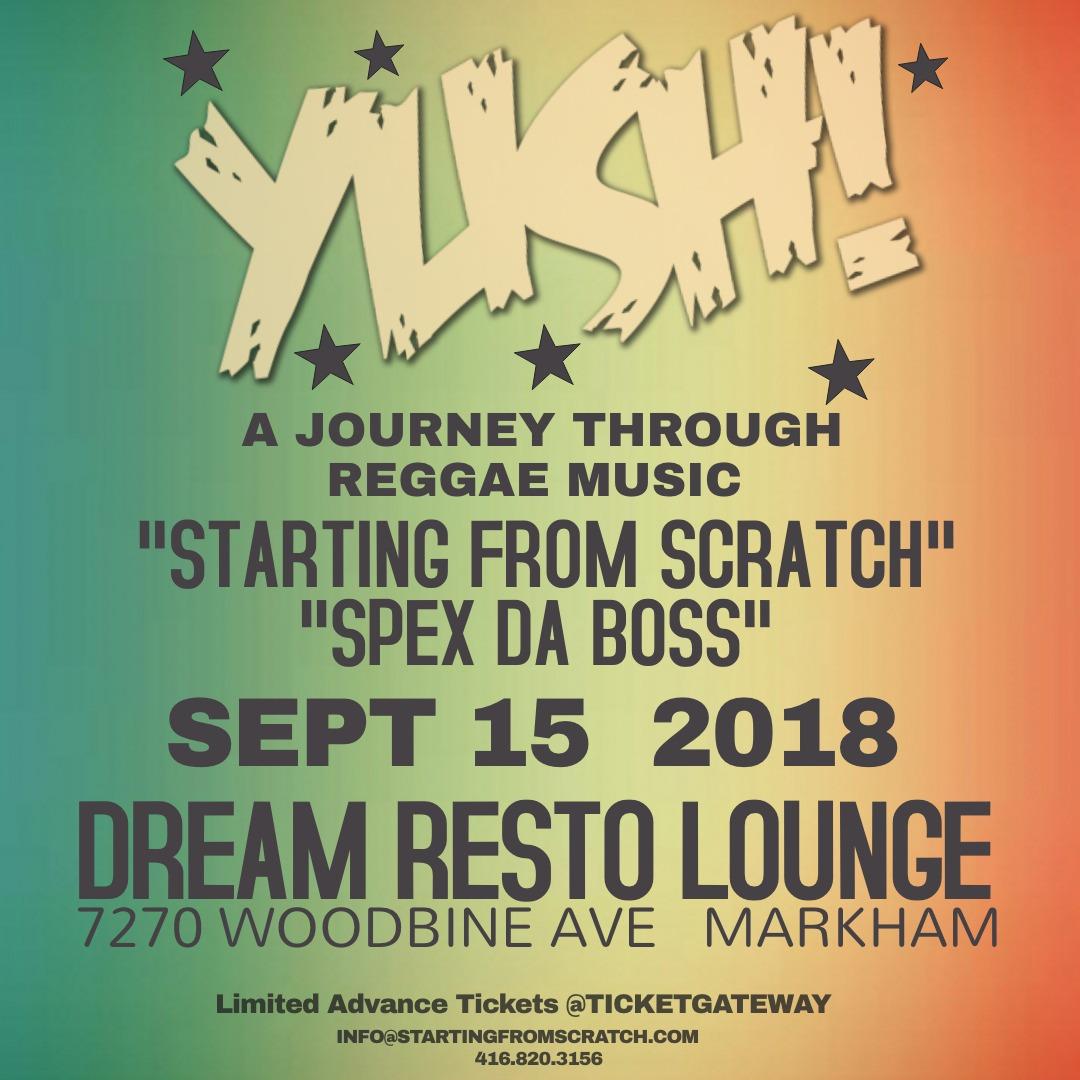 YUSH - A JOURNEY THROUGH REGGAE MUSIC  - SEPT 15th