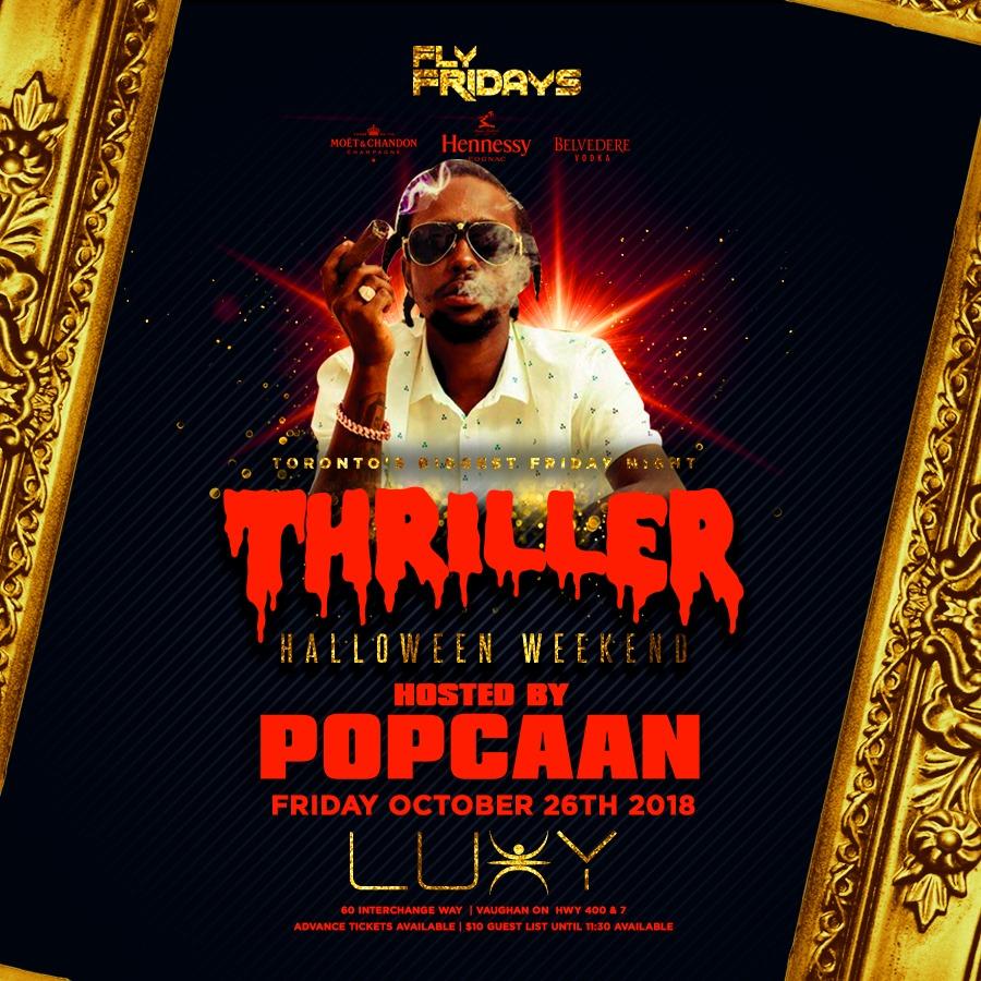 THRILLER - Halloween Friday Inside Luxy