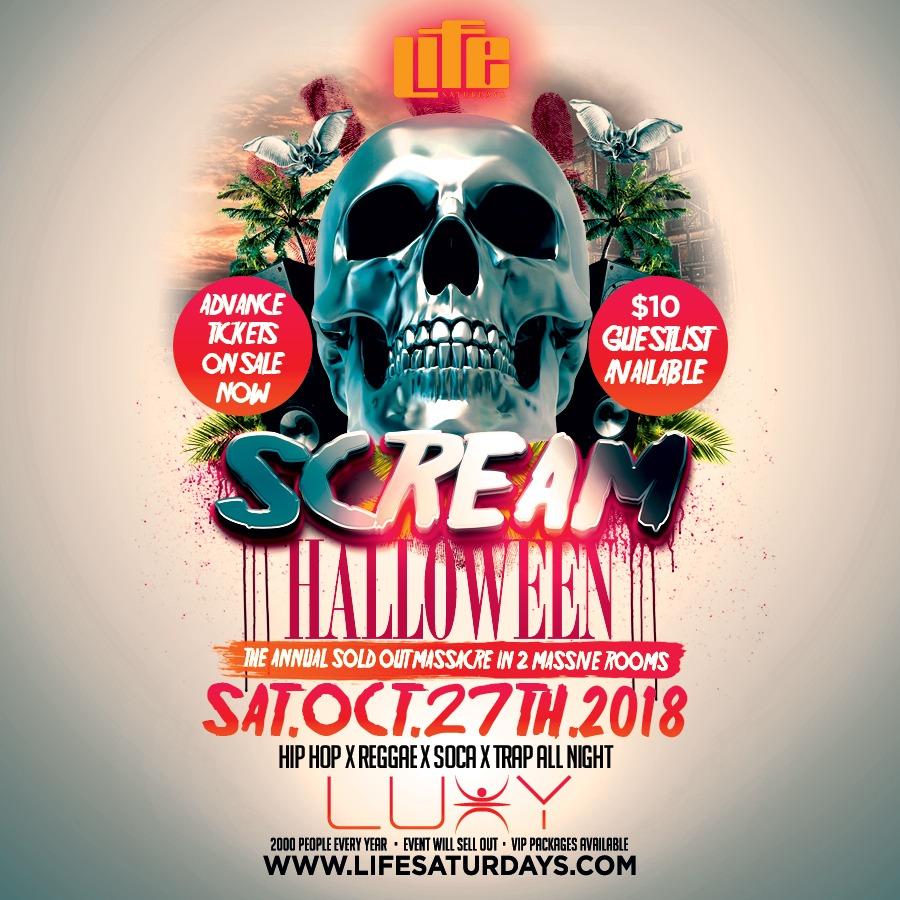 SCREAM - Halloween Saturday Inside Luxy