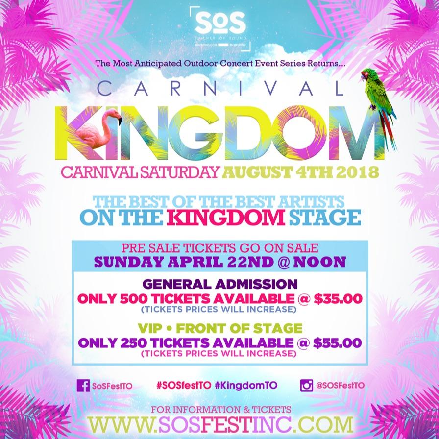 CARNIVAL KINGDOM 2018   SOS Fest   Carnival Saturday's Biggest Concert Fete