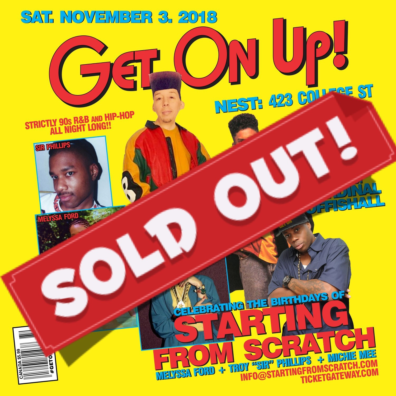 GET ON UP - 90s R&B/Hip Hop - Starting from Scratch Bday Feat Special Ed