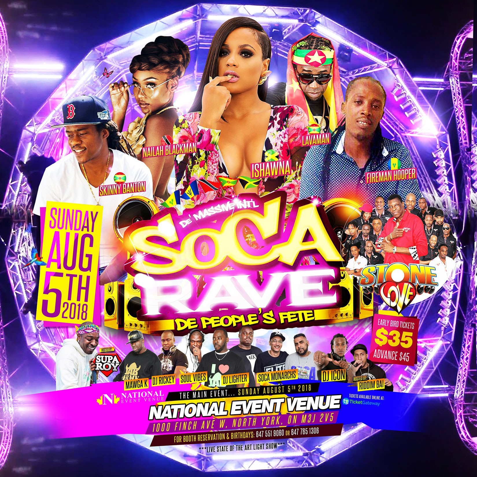 SOCA RAVE: De People's FETE | The Biggest Fete Caribana Sunday
